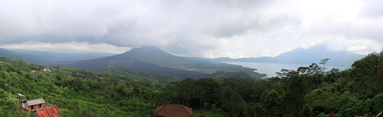 Volcano Bali Ubud Panorama of a Volcano in Bali